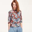 New Look Floral Print High Collar 3/4 Sleeves Shirt
