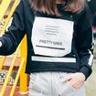 Long Sleeve  Lounge Sweatshirt With Pretty Girls Letter