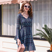 Fashion Holiday Fine Exquisite Embroidery V-Neck Dress