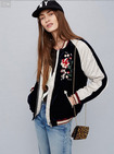Exquisite Embroidery Fashion Handsome Baseball Jacket