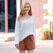 Tie Pleated High Waist Wide Leg Wild Thin Straight Shorts
