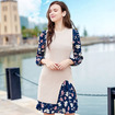 Weekend and Florals Long Sleeve Print Dress and Sleeveless Knit Dress Two Sets