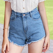 High Waisted Short Jeans